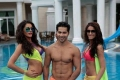 Nargis Fakhri, Varun Dhawan and Ileana D'Cruz still from film Main Tera Hero