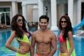 Nargis Fakhri, Varun Dhawan and Ileana D'Cruz still from film Main Tera Hero