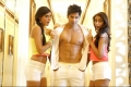 Nargis Fakhri, Varun Dhawan and Ileana D'Cruz still from Main Tera Hero