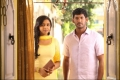 Lakshmi Menon and Vishal still from Naan Sigappu Manithan