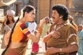 Vadivelu and Meenakshi Dixit still from Thenaliraman