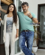 Nayantara and Ajith Kumar in Telugu Movie Aata Arambham