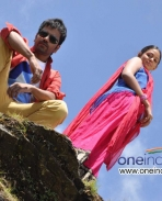 Sathish Ninasam and Subhiksha in Kannada Movie Anjada Gandu