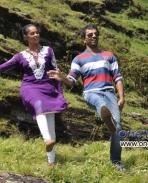 Subhiksha and Sathish Ninasam in Kannada Movie Anjada Gandu