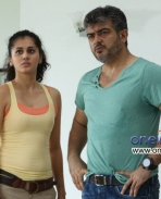 Tapasee Pannu and Ajith Kumar in Telugu Movie Aata Arambham