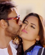 Ajay Devgan and Sonakshi Sinha in Action Jackson