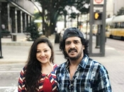 Upendra And Priyanka Visit To United States