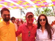 Sanjjanaa Galrani Holi Celebration