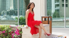 Ileana D'Cruz in Red Dress