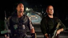 Dwayne Johnson as 'Roadblock' and Bruce Willis as 'Colton'