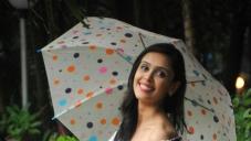Hrishitaa Bhatt enjoying her rainy day