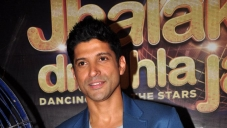 Farhan Akhtar at on the sets of Jhalak Dikhhla Jaa 6