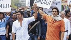 Ajay Devgan and Arjun Rampal still from Satyagraha