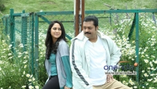 Mia George and Suresh Gopi in Malayalam Movie Salaam Kashmir