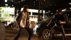 Actor Ranbir Kapoor action still from Besharam