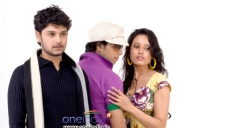 Rakesh, Nikii and Chethan at Kannada Film Mandhahasa