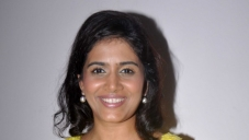 Sonali Kulkarni during the media interaction on her latest movie The Good Road