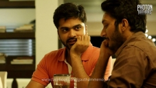 Silambarasan and Sathish still from film Sattendru Maarudhu Vaanilai