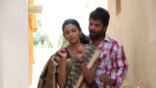 Subhiksha and Sathish Ninasam in Kannada Movie Anjada Gandu