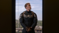 Chris Evans still from film Captain America The Winter Soldier