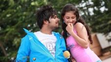 Pradeep and Kanika Tiwari in Kannada Movie Rangan Style
