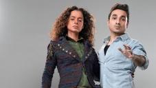 Kangna Ranaut and Vir Das still from Revolver Rani