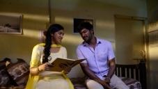 Vishal and Lakshmi Menon still from Naan Sigappu Manithan