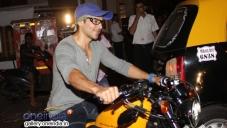 Dino Morea snapped biking in Bandra