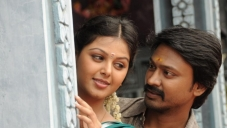 Monal Gajjar and Krishna still from Vanavarayan Vallavarayan