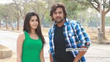Nikki Galrani and Chiranjeevi Sarja in Kannada Movie Ajith