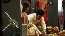 Vijay Antony and Actress Aksha Pardasany still from Tamil Movie Salim
