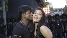 Duniya Vijay and Soundarya Jayamala in Simhadri