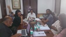 Shruthi Hassan on the set of Sabash Naidu