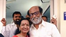 Rajinijkanth with Vijay mother at Marriage FunctionRajinikanth Spotted at Marriage Function.