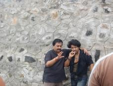 Shaan with Abhishek in Kaiyezhuthu Photos