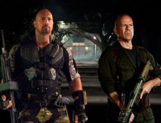 Dwayne Johnson as 'Roadblock' and Bruce Willis as 'Colton' Photos