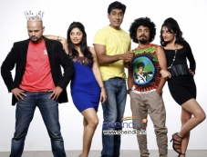 RJ Prithvi, Bhavana Rao, Monish, Vasu Dixit, Kanchan in Kannada Movie Money Honey Shani Photos