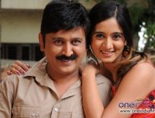 Ramesh Aravind and Harshika Poonacha in Kannada Film Mangana Kaili Manikya Photos