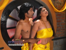 Sri Hari and Disha Poovaiah in Kannada Film Ashirvadha Photos