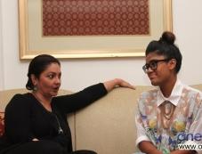 Bollywood actress & filmmaker Pooja Bhatt with Mariam Unoosha a singer from Maldives Photos