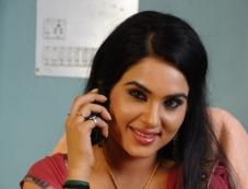Kavya Singh in Dark Red Saree Photos