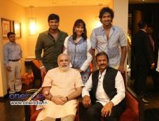 Mohan Babu Family meets Narendra Modi Photos