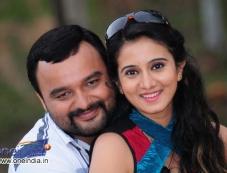 Nagaraj and Harshika Poonacha in Kannada Movie Maryade Photos