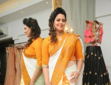 Nagma wearing Independence Day Saree Photos