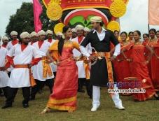Karthika Nair and Darshan in Film Brindavana Photos
