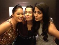 Nikesha Patel, Charmy Kaur and Trisha present at SIIMA Awards 2013 Pre-Party Photos
