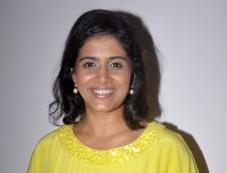 Sonali Kulkarni during the media interaction on her latest movie The Good Road Photos