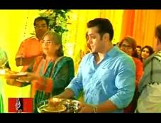 Salman Khan Performing Pooja Photos