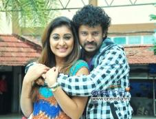Vyalari and Amogh in Kannada Movie Pora Photos