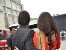Amitabh Bachchan meets Tabu at mehboob studio Photos